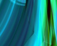 Genetic Art Northern Lights Blue and Green Royalty Free Stock Images