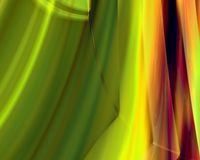 Genetic Art Northern Lights Yellow and Green Stock Photos