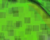 Genetic Art Phantom Squares Green Stock Image