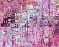 Genetic Art Psychedelic Glass Blocks Magenta Light Stock Photo