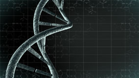Genetic DNA with science background. An image of a DNA strand. A 3D illustration of a genetic code chain with grid background. Abstract close up of a chromosome Stock Photography
