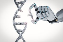 Genetic engineeering concept royalty free illustration