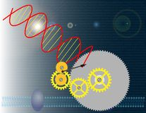 Genetic engineering. Illustration about the use of technology for genetic manipulation vector illustration
