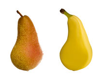 Genetic engineering. Pear isolated on white as a symbol for genetic engineering Stock Photography