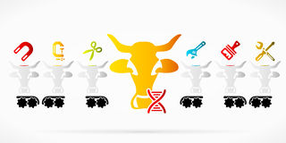 Genetic engineering Royalty Free Stock Photography