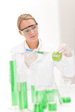 Genetic engineering - scientist in laboratory. Genetic engineering - scientists in laboratory, GMO testing experiment royalty free stock photos