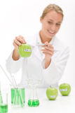 Genetic engineering - scientist in laboratory stock photos