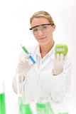 Genetic engineering - scientist in laboratory Royalty Free Stock Photos