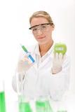 Genetic engineering - scientist in laboratory Royalty Free Stock Photos
