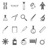 Genetic gray icons Stock Photo