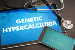 Genetic hypercalciuria (genetic disorder) diagnosis medical conc Stock Images