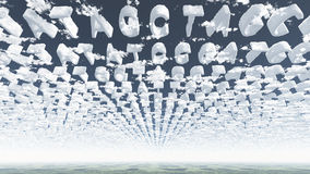 Genetic Latters Clouds Stock Photos
