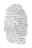Genetic Letter Finger Print Stock Images