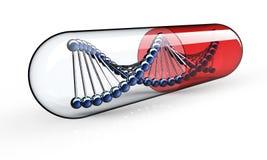 Genetic Medicine isolated on black Royalty Free Stock Photos