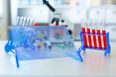 Genetic microbiology lab supplies Stock Images