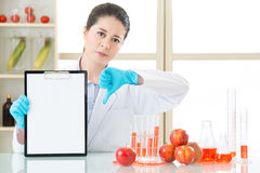 Genetic modification test result are bad Royalty Free Stock Photos