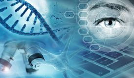 Genetic research abstract concept Stock Photo