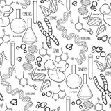 Genetic research pattern Royalty Free Stock Image