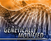 Genetically modified Abstract concept digital illustration Royalty Free Stock Photo