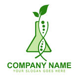 Genetically Modified Crops Logo. An illustration of a business company logo representing plants that have been genetically modified stock illustration