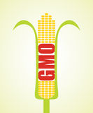 Genetically modified maize. Agricultural concept, abstract illustration Stock Images