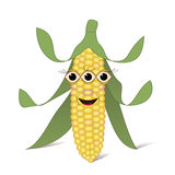 Genetically Modified Organism. Genetically modified corn with beautiful eyes vector illustration