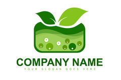 Genetically Modified Plant Logo. An illustration of a business company logo representing plants that have been  genetically modified Stock Image