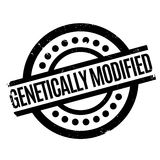 Genetically Modified rubber stamp. Grunge design with dust scratches. Effects can be easily removed for a clean, crisp look. Color is easily changed Royalty Free Stock Image