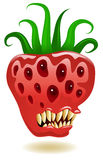 Genetically Modified Strawberry. Illustration of a genetically modified strawberry vector illustration