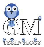 Genetically Modified Technology. On animals isolated on white background Royalty Free Stock Photography