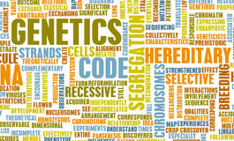 Genetics. And the Genetic Code Science Concept Stock Image