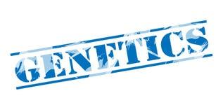 Genetics blue stamp. Isolated on white background stock illustration