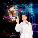 The genetics concept. Medical research in the genetics of the future Royalty Free Stock Photos