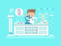 Genetics doctor man Stock Photo