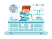 Genetics doctor during work at laboratory Royalty Free Stock Images