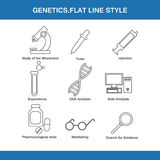 Genetics  flat line style. In  format eps10 Royalty Free Stock Image