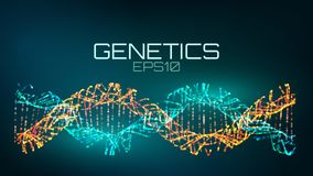 Genetics futuristic technology. genetically modified bio tech helix. Background vector illustration