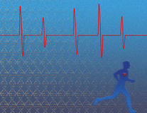 Genetics Heart Health. Heart health, exercise and genetics Stock Illustration