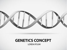 Genetics. Poster of genetics concept in grayscale Stock Image