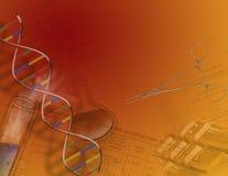 Genetik u. Wissenschaft stock abbildung