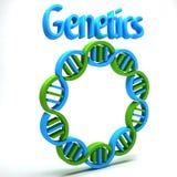 Genetik-Wissenschaft Stockbild