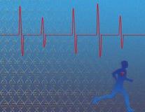 genetikhälsohjärta Stock Illustrationer
