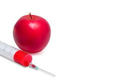 Genetisch Gewijzigd Apple Royalty-vrije Stock Foto