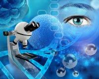 Genetisch onderzoek stock illustratie