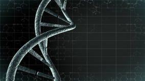 Genetische DNA met wetenschapsachtergrond Stock Fotografie