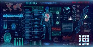 Genetische Forschung Ärztliche Untersuchung lizenzfreie abbildung