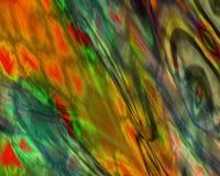 Genetische Kunst-flüssiges Farben-orange Rot-Blau Lizenzfreie Stockbilder