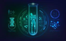 Genetisches DNA-Konzept getrennt auf weißem Hintergrund vektor abbildung