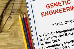 Genetisches DNA-Konzept getrennt auf weißem Hintergrund Stockbilder