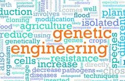 genetisk engineering royaltyfri illustrationer